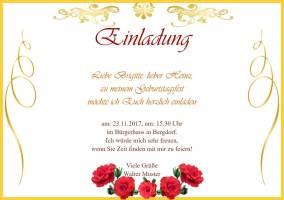 einladungskarte: einladung zum geburtstag, Einladungsentwurf