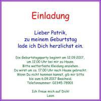 Querformat Einladung Zum Kindergeburtstag Blank Einfache Quadratische  Einladung Zum Kindergeburtstag