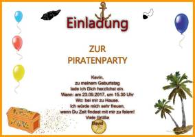 Querformat Einladung zur Piratenparty