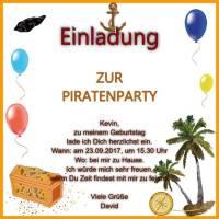 Querformat Einladung Zur Piratenparty Quadratische Einladung Zur  Piratenparty