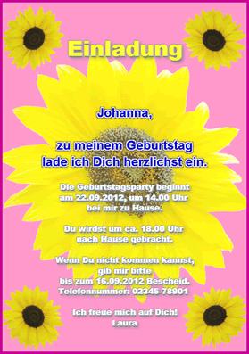 einladungskarte: einladung zum kindergeburtstag, Einladung