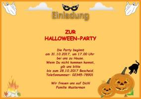 Querformat Einladung Halloween   Kinder