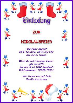 einladungskarten - feiertage in deutschland, Einladung