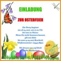 Einladungskarte Ostern Feiertage