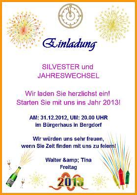 Einladungskarten - Feiertage in Deutschland