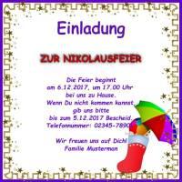 feiertage - einladungskarte nikolaustag, Einladung