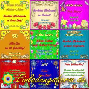 Geburtstagskarten, Glückwunschkarten, Grußkarten selbst erstellen und Download kostenlos