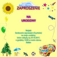 polnisch. einladungskarte geburtstag