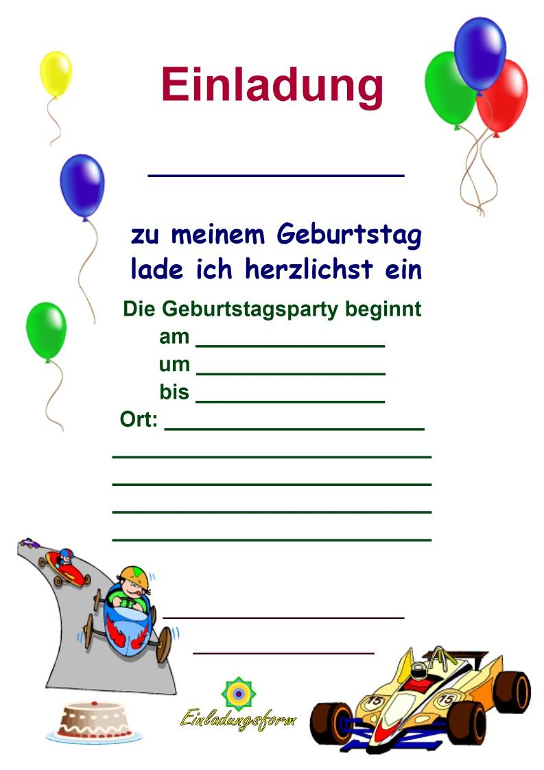 Einladungskarten Kindergeburtstag Zum Ausdrucken Jungs