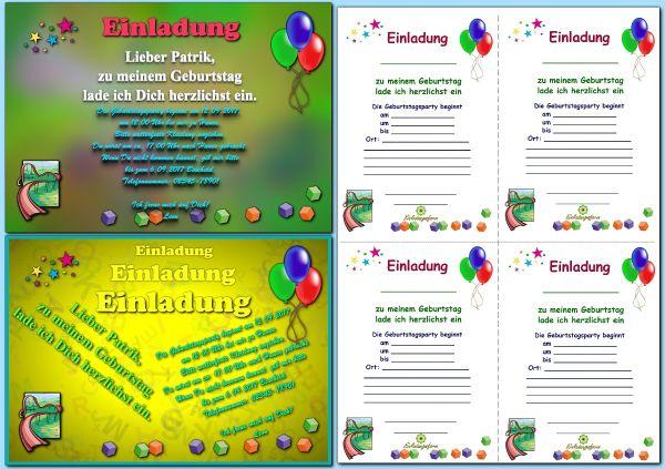 Einladungskarten Kostenlos Selbst Gestalten Und Drucken