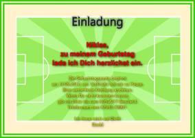 Einladungskarte Kindergeburtstag Fussballspiel