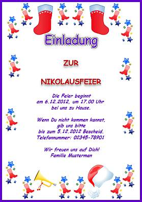 Einladungsschreiben Zur Weihnachtsfeier.Einladungskarten Feiertage In Deutschland
