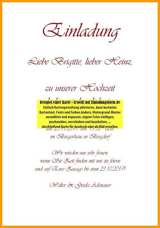hochzeitseinladung selbst gestalten, Einladung