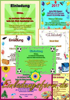 Einladungskarten selber drucken word