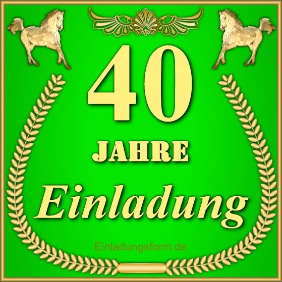 Fix Und 40 Einladung Zum 40 Geburtstag 2