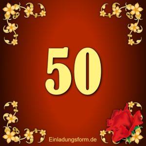 einladung zum 50. geburtstag / jubiläum kostenlos